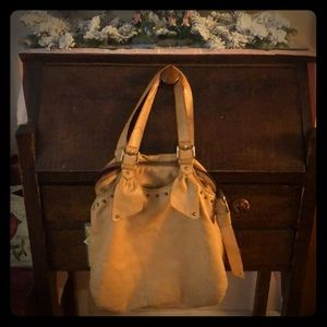 Marc Jacobs - soft tan, leather floppy purse.